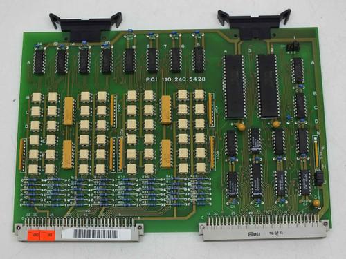 Netstal POI 110.240.5428 Board Netstal Diskjet Injection Steag Unijet Firstlight