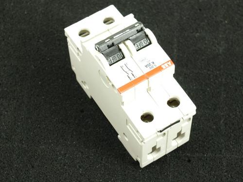 ABB S282-K20W 10kA 2-Pole Circuit Breaker K20A S282 480Y/277 VAC Din-Rail