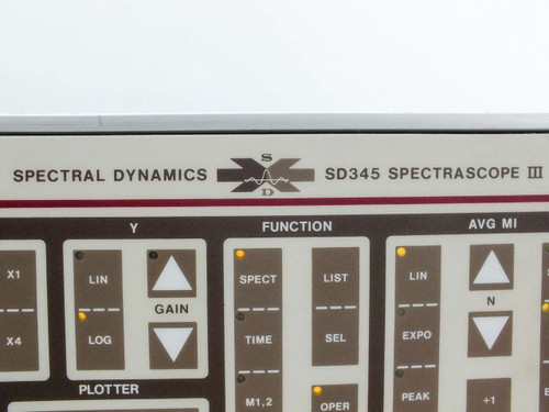 Spectral Dynamics SD345-3B02 Spectrascope III Narrowband Spectrum Analyzer