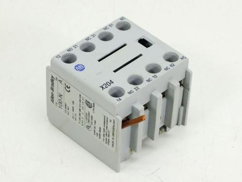 Allen Bradley 100-N Allen-Bradley X204 Auxiliary Contact 600 Volts 10 Amp