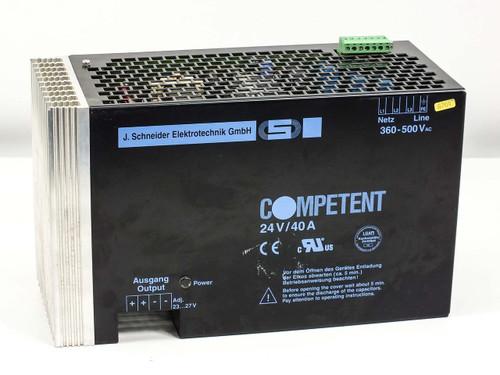 J Schneider 149001-711013 Power Supply SEC: 24 VDC 40 Amp   PRI: 360~500 VAC
