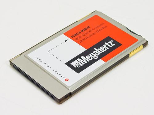 Megahertz XJ2288 28.8K PCMCIA 14.4K Modem W/ XJack