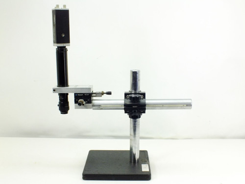 Newport 460P X/Y Adjustment Stages on Microscope Boom Stand w Techni-Quip Camera