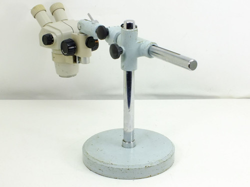 Nikon SMZ-1B Microscope Head with Focus Block and Telescoping Boom Stand