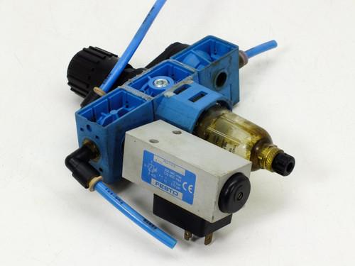 Festo Compressed Air Filter / Regulator PEV-1/4-B Pressure Switch LFR-1/2-S-5M-B