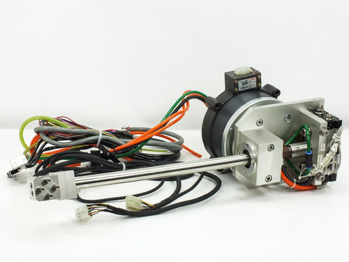 NSK YS2020FN001 Rotary Positioning Motor for Automation w/ SMC CDRQB Liner Rail
