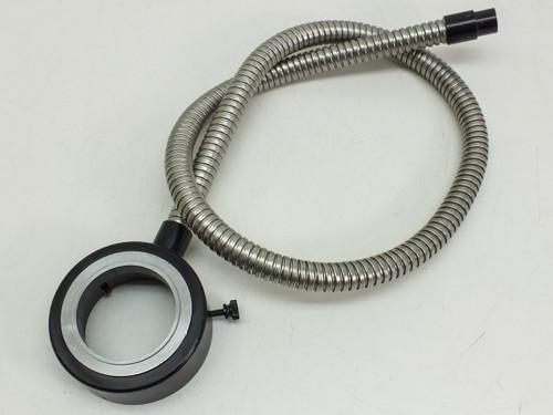 "Fiber-Optic Microscope Light Source Flex Cable Ring Mount Black 38"" Long"