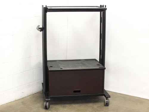 "Mobile AV Cart for CRT TV Presentations with Cabinets and 30.5"" x 21"" Surfaces"