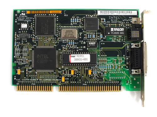 Intel 350020-001 16-Bit ISA LAN Adapter EtherExpress BNC (TP/AUI) - 308431-001