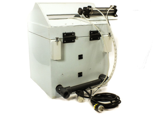 HDPE Spinning Chamber w/ Miniarik Drive Controller and Norgren Linear Actuator