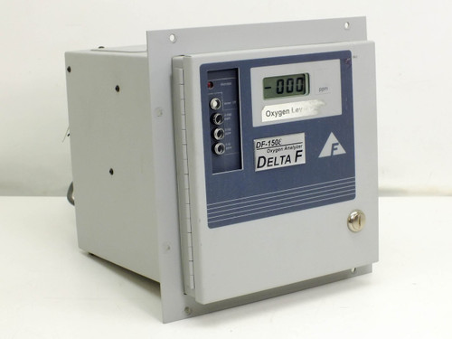 Delta F 153E-1000 Oxygen Analyzer Range 0-10/100/1000 PPM - As Is / For Parts