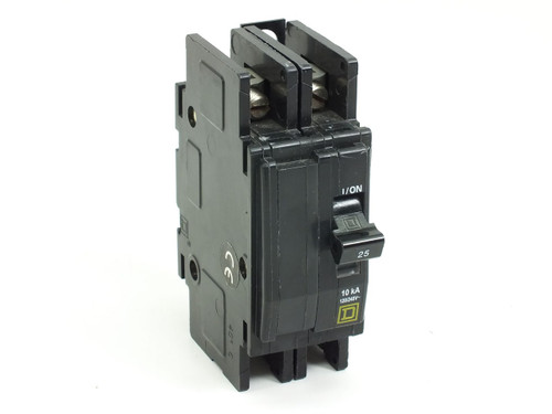 Square D 2 Pole 25 Amp Circuit Breaker (QOU)