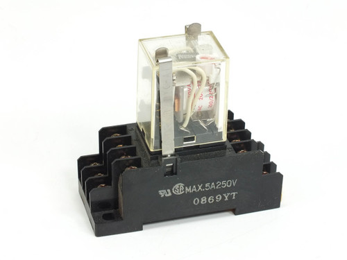 Omron Power Relay with PYF14A 2 Pole Relay Din Mount (MY4N)