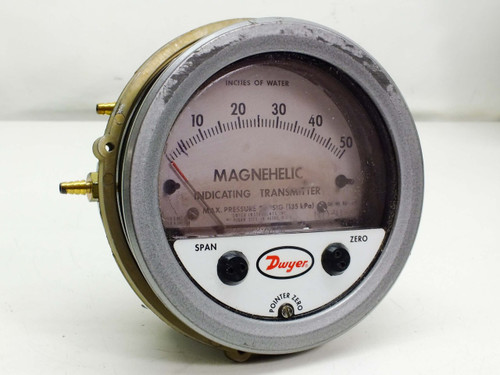 """Dwyer 0-50"""" Magnehelic Differential Pressure Indicating Transmitter Gauge 605-50"""