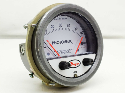 """Dwyer 0-60"""" Photohelic Differential Pressure Gage w/Low/High Set-Points 3060MR"""