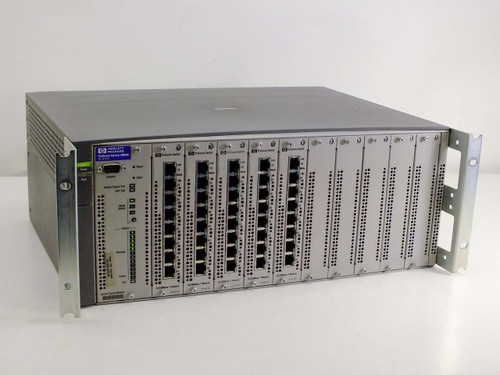 HP J4121A Procurve Switch 4000M with 5 J4111A 10/100Base - T Modules