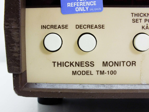 Maxtek TM-100 Quartz Crystal Deposition Rate Thickness Monitor