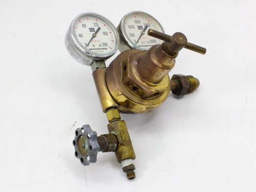Matheson Chrome Plated Brass Gauge 0-3000 PSI (0-21,000 kPa) With Regulator