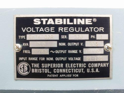 Stabiline EMT4102R 2kVA Voltage Regulator Variac - PRI: 95~135 V SEC: 110~120 V