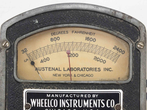 Wheelco Instruments 0-2400 Degrees F Thermometer - Austenal Laboratories 30