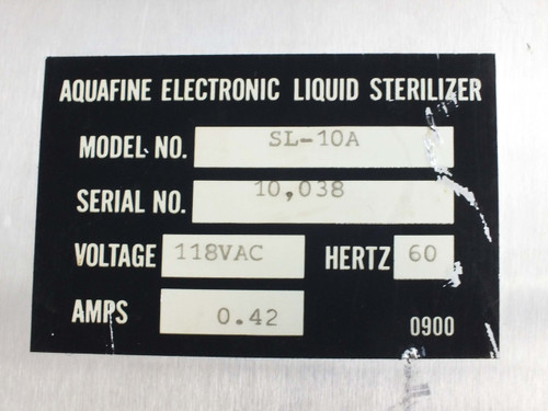 Aquafine SL-10A Electronic UV Liquid Sterilizer 10 GPM with GOOD Bulb 118 Volt