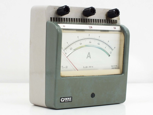 Goerz Electro 324768 Analog Amp Meter 0 ~ 1.2 / 0 ~ 6.0 Amp MAX - Tested GOOD