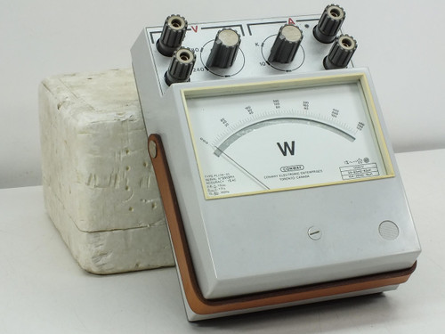 Conway PLI/W-31 Analog Volt / Amp Meter 120/240/480 VAC 10A - No Reading - As Is