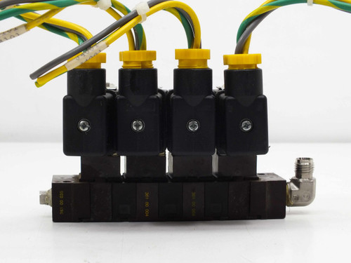 Asco 4 Solenoid Valves with Manifold 110VAC 10900001
