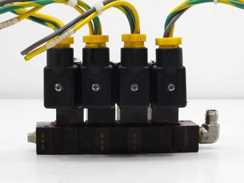 Asco 4 Solenoid Valves with Manifold 110VAC 10900001