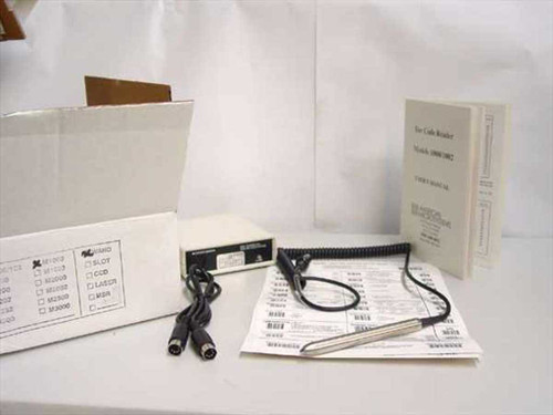 American Microsystems M1000 Stainless Steel Barcode Scanner Wand 1000 - NEW