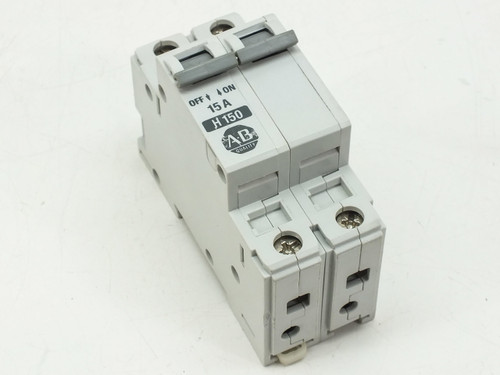 Allen-Bradley 1492CB2 H150 Series B Circuit Breaker 1492CB2 H150 2 Pole 15 Amp