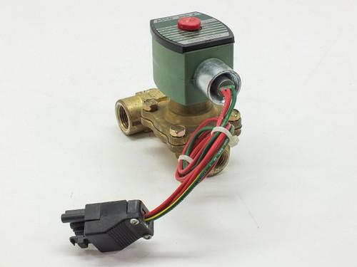 ASCO 8210G34N 2-Way Brass 1/2 In Solenoid Valve 150PSI 10.1WATTS RED-HAT