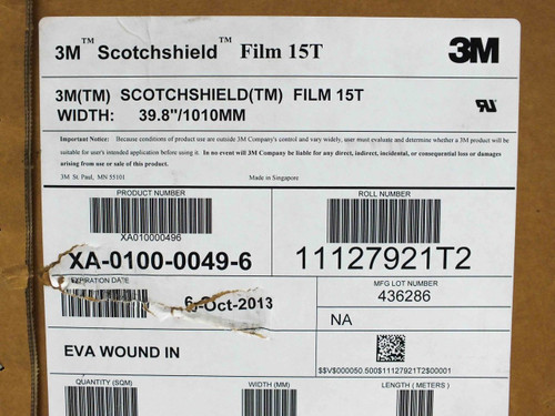 3M 15T Scotchshield EVA Backside Lamination Film for Solar Modules