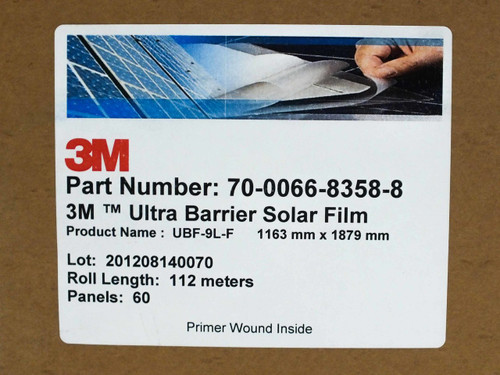 3M UBF-9L Ultra Barrier Solar Panel Top Sheet for Thin Film - 1163mm Wide