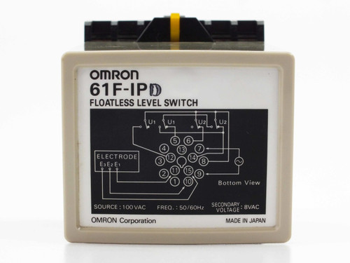 Omron 61F-IPD Floatless Level Switch - Din Rail - Source 100 VAC Secondary 8 VAC