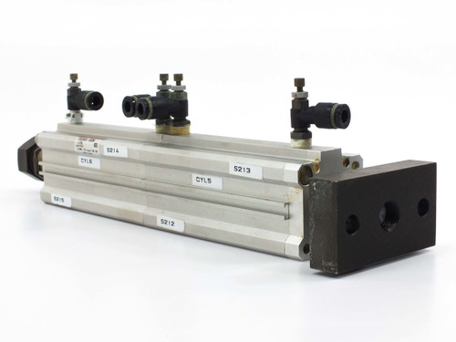 """SMC Cylinder with CDQ2KB32-75DM, Extended Length from 12.00"""" to 17.25"""" CDQ2B32-6"""