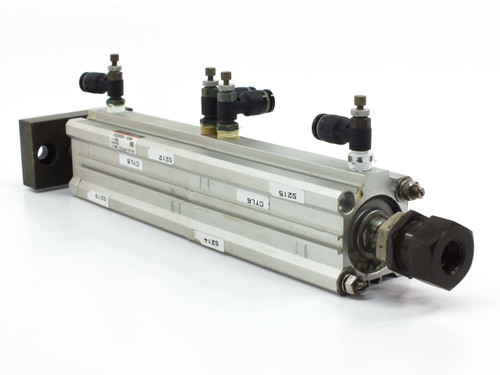 "SMC Cylinder with CDQ2KB32-75DM, Extended Length from 12.00"" to 17.25"" CDQ2B32-6"