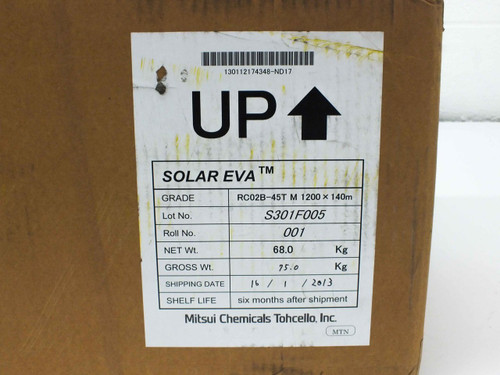 Mitsui Chemicals Tohcello RC02B-45T EVA Encapsulant Sheet for Solar Panels