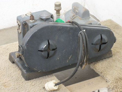 Welch 1399 DuoSeal Belt Drive Vacuum Pump with 1/3 HP 115/230 PH-1 VAC Motor