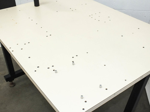 """Steel Top Tech Bench Work Table - Multiple feed throughs 48"""" x 36"""" 40"""" High"""