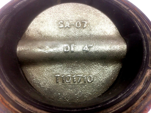 """Nibco WD3010 4"""" Butterfly Valve Ductile Iron Wafer Type 250 PSI"""