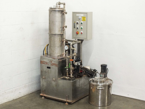 Unbranded Custom SS Effluent Treatment System w/ Vacuum Pump and Induction Motor