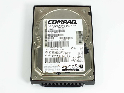 "Compaq 163587-002 18.2GB SCSI 3.5"" HDD 10000RPM with 80-Pin SCA Hot Swap Connector"