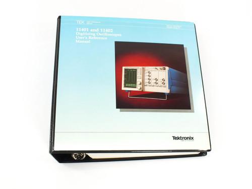 Tektronix Digitizing Oscilloscopes Users Reference Manual 11401/11402