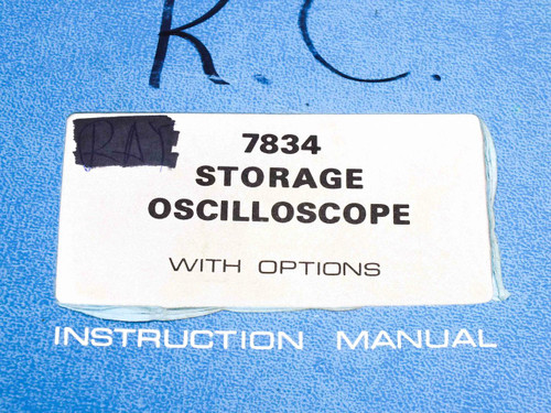 Tektronix 7834  Storage Oscilloscope with Options Instruction Manual