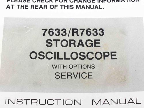 Tektronix 7633/R7633  Storage Oscilloscope With Service Option Instruction Manua