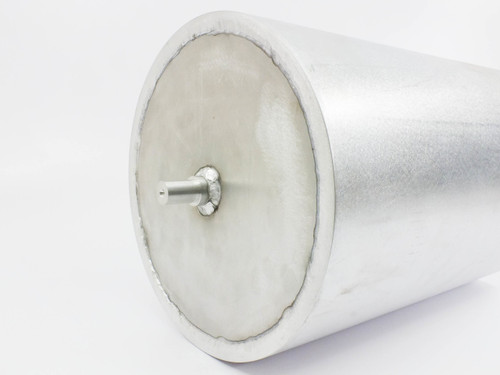 "Aluminum Roller  Cylinder 10"" Diam x 15"" Long with 11/16"" x 1"" Mounting Shafts"