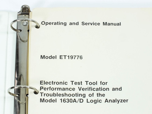 HP ET19776  Operating and Service Manual