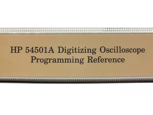 HP 54501A  100 MHz Digitizing Oscilloscope Programming Reference