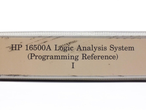 HP 16500A  Logic Analysis System Programming Reference I